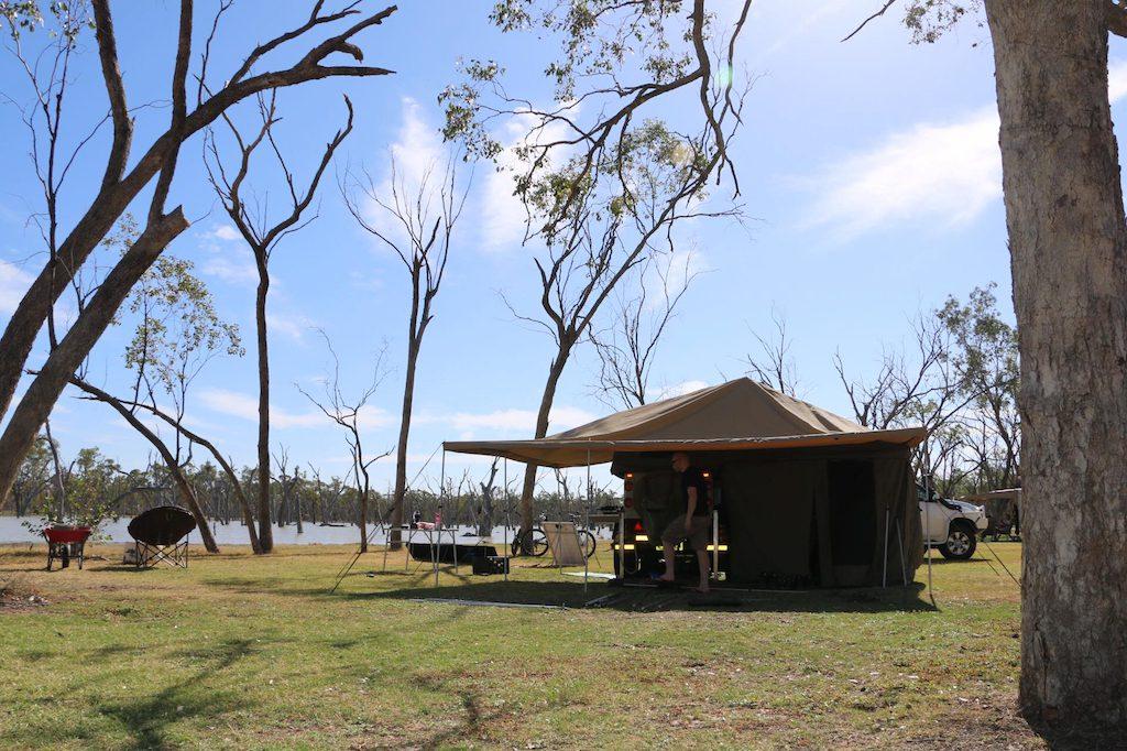 Lara Wetlands, Camp site in Barcaldine, Queensland, Australia